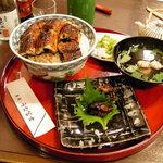 うな富士 - 天然鰻の肝焼きとうな丼(秋)