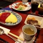 洋食 浅草軒 - オムライスのセット