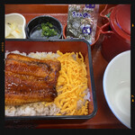 なか卯 - 料理写真:うな重ひつまぶし風セット 970円