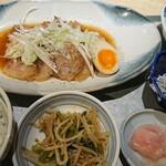 魚金醸造 - 炙りチャーシュー定食(林SPF極上肉使用)