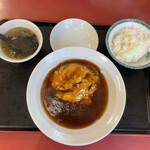 熱々食堂 - カニ玉とライス