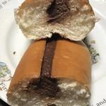 高久製パン - ザクザクチョココッペパンの断面