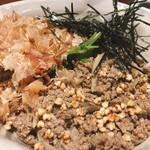 155751182 - (冷)鴨そぼろぶっかけ蕎麦-温泉玉子付き-