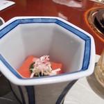 永田町 黒澤 - トマト豆腐と帆立の酒煎り