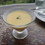 檪の丘 - 旬のトウモロコシの冷製スープ