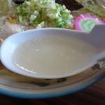 味の清ちゃん - 塩ラーメン スープアップ