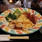 キッチン まつ本 - 料理写真:シーフードミックス(貝柱・イカ・海老 1,700円)