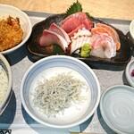 魚金醸造 - 魚金と言えば!代表する刺身の定食。