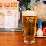 とん両 - 生ビール(350円)