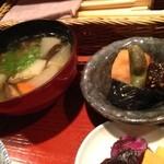 和彩弥 嶋川 - けんちん汁と小鉢