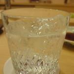 すし北野 - 芋焼酎ロック