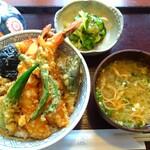 手打ちそば 麦角 - 料理写真:■海老天丼