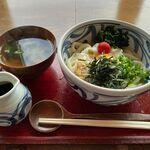 ほくほく庵 - 冷山芋かけ+お吸物(800円+120円)