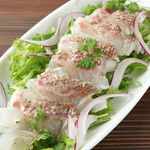 IBIZAバル - 本日のカルパッチョは、三崎から届いた新鮮な旬の魚を使用