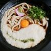 ふじきち - 料理写真:山かけうどん、卵黄が嬉しい
