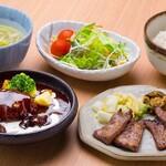 仙台炭焼き 牛たん欅 - 料理写真:牛たん&牛たんハンバーグセット