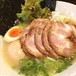 松壱家 - 極み鶏、とろりとしたスープが濃厚で美味い(^з^)-☆