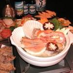 オホーツク美幌食堂 - 鍋付きの宴会コース!北海道の幸満載で、おなかいっぱいお召し上がりください。