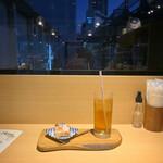 横浜 三河屋 - 飲み物、ミニデザートのセット(期間限定)