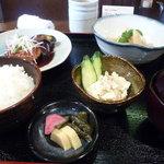 米蔵 - ランチをつくねと竹の子にしました。