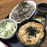 お食事処 藤 - 料理写真:親子丼ハーフそばセット 900円