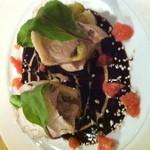 丹華麗 - 蒸し鶏と蒸し茄子の胡麻味噌2色ソース