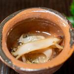 京天神 野口 - 鮑、白芋茎、生姜の葛あん