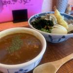 ぶっかけうどん あつた屋 - 料理写真:ミニ和風カレー丼 スペシャルぶっかけ冷