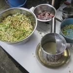 甘栄堂 - 細かく切った野菜をいれるのが特徴です(2012.4)