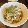 赤麺 梵天丸 - 料理写真:冷し汁なし担々麺、蒸し鶏トッピング、温泉玉子