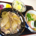 めん処 喜多野 - 淡路島牛丼セット