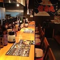 大阪産色いっぱいのカウンター席。ご予約時にご指定くださいませ。