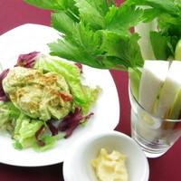 エムジェイカフェ - あっと驚く野菜スティック!アリオリソースを付けてどーぞ!