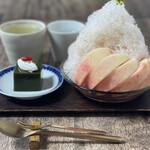 うめぞの茶房 - 料理写真:かき氷 かざり羹セット