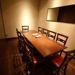 バツ - 店内には個室もあり!お一人様お料理4000円~、10名様まで承ります。(要予約)