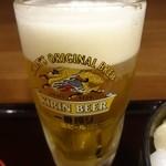 やまけい - 生ビール(キリン一番絞り):390円