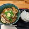 風輪里 - 料理写真:豚の生姜焼きぶっかけ750円 しろいごはん150円