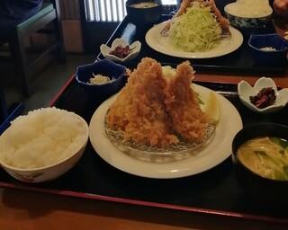 お食事処 大原 - アジフライ+ご飯セット=アジフライ定食(値段一緒でご飯お代わりできない) ご飯はたっぷりだからお代わりは不要でした