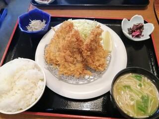お食事処 大原 - ご飯セットには しらすおろし・えのきのお味噌汁・しば漬け が付く