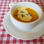 156040456 - 冷たいカボチャのスープ。冷えてて美味しい!