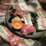 鶏屋 六角鶏 - のぶのお造り盛合せ(1人前)480円