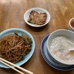 圓記 - 中華粥、焼きそば、大根餅。