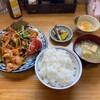 栗原軒 - 料理写真:肉朝鮮焼き定食+生玉子