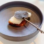 156078685 - 鱧のベニエ、夏野菜ソース