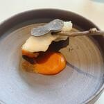 156078686 - 鱧のベニエ、夏野菜ソース
