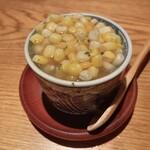 156081304 - とうもろこしと蛤の茶碗蒸し
