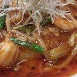 拉麺阿修羅 颯 - 2012年10月の限定麺「海鮮激辛あんかけ麺」