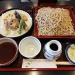 手打ちそば 藪伊豆 - 料理写真:野菜天せいろ 大盛 1250円