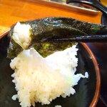濃豚骨醤油ラーメン 馬力屋 - スープに漬けた海苔と共に・・・
