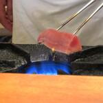 寿司 あさ海 - 炙り中